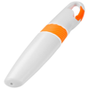 Picasso highlighter with carabiner in white-solid-and-orange