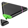 Bermuda triangle highlighter in black-solid