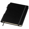 Panama A5 hard cover notebook with pen in black-solid
