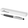 Averell stylus ballpoint pen in black-solid-and-silver