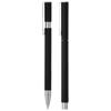 Oval ballpoint pen set in black-solid