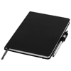 Crown A5 notebook with stylus ballpoint pen in black-solid