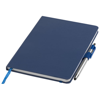 Crown A5 notebook with stylus ballpoint pen in blue