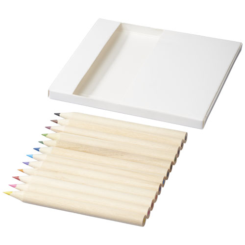 Doris 22-piece colouring set and doodling paper in white-solid