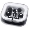 Sargas lightweight earbuds in black-solid