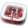 Sargas lightweight earbuds in red