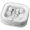 Sargas lightweight earbuds in white-solid