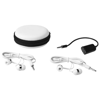 Sound off earbuds and splitter with case in white-solid