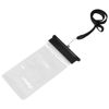 Splash waterproof touch-screen smartphone pouch in black-solid-and-transparent