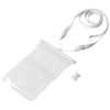 Splash waterproof touch-screen smartphone pouch in white-solid-and-transparent-clear