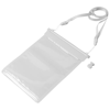 Splash waterproof mini tablet touchscreen pouch in white-solid-and-transparent-clear