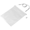 Splash tablet waterproof touch screen pouch in white-solid-and-transparent-clear