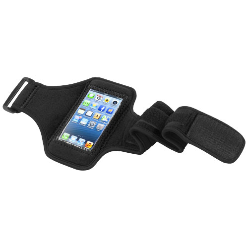 Protex touch screen arm strap in black-solid