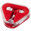 Rebel earbuds in red-and-white-solid