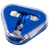 Rebel earbuds in royal-blue-and-white-solid