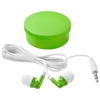 Versa earbuds in transparent-green-and-white-solid
