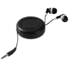 Reely retractable earbuds in black-solid