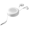 Reely retractable earbuds in white-solid