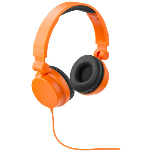 Rally foldable headphones in orange