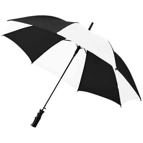 Barry 23'' auto open umbrella in black-shiny-and-white-solid