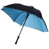 Square 23'' double-layered auto open umbrella in black-solid-and-blue