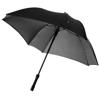 Square 23'' double-layered auto open umbrella in black-solid-and-grey