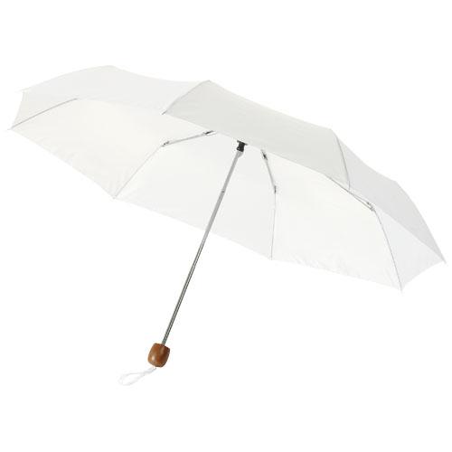 Lino 21.5'' foldable umbrella in white-solid