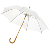 Jova 23'' umbrella with wooden shaft and handle in white-solid