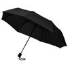 Wali 21'' foldable auto open umbrella in black-solid