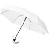 Wali 21'' foldable auto open umbrella in white-solid