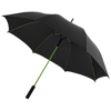 Stark 23'' windproof auto open umbrella in black-solid-and-lime