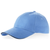 Challenge 6 panel sandwich cap in sky-blue