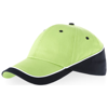 Draw 6 panel cap in apple-green-and-navy