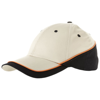 Draw 6 panel cap in natural-and-black-solid