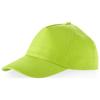 Memphis 5 panel cap in apple-green
