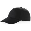 Memphis 5 panel cap in black-solid