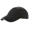 Alley 6 panel cool fit sandwich cap in black-solid