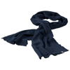 Mark scarf in navy