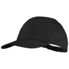 Basic 5-panel cotton cap in black-solid