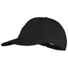 Basic 5-panel non woven cap in black-solid