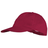 Basic 5-panel non woven cap in red