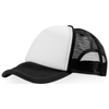 Trucker 5 panel cap in black-solid-and-white-solid