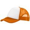 Trucker 5 panel cap in orange