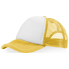 Trucker 5 panel cap in yellow-and-white-solid
