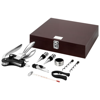 Executive 9-piece wine set in brown
