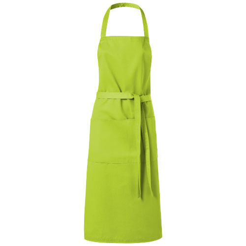 Viera apron with 2 pockets in lime