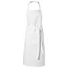 Viera apron with 2 pockets in white-solid