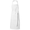 Viera apron in white-solid