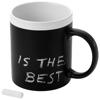 Chalky ceramic mug in black-solid