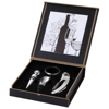 Belgio 4-piece wine set in black-solid-and-silver